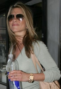 J.Aniston Looking Great Wearing Men's Rolex!