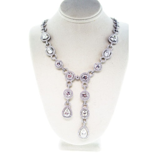 diamond drop necklace, platinum, diamond, raymond lee jewelers
