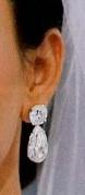 Kim Kardashian Wedding Earrings