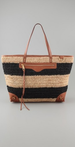 Rebecca Minkoff Endless Love Straw Tote, $250