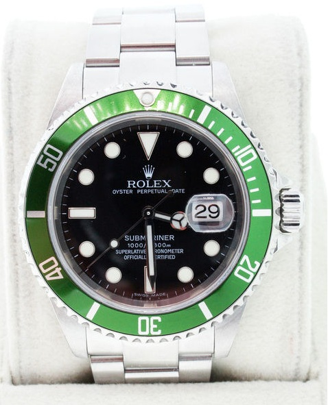 Raymond lee jewelers, luxury watch, rolex, rolex submariner, green rolex