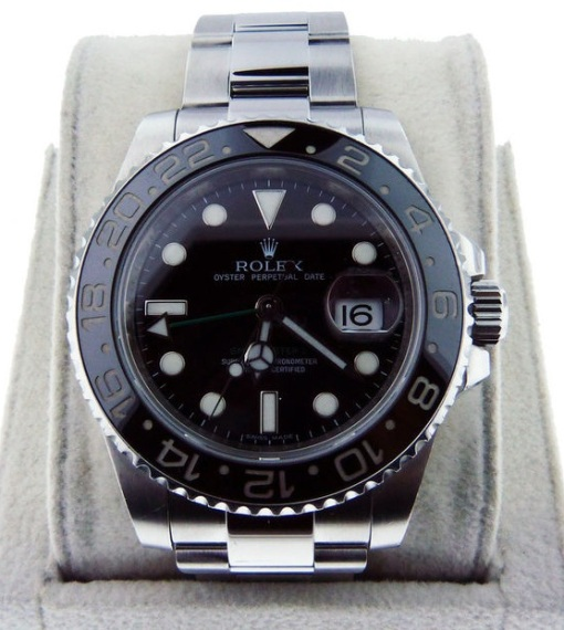 Rolex GMT, Raymond Lee Jewelers, luxury watches, black Rolex