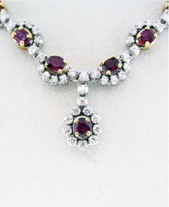 ruby, diamonds, raymond lee jewelers